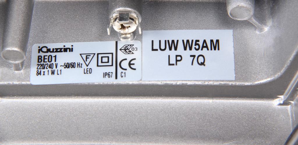 Указание типа и бина светодиодов светильника Iguzzini Archilede