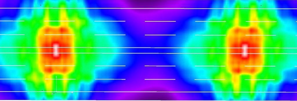 А4 и Б1, 6 полос, опоры 12-метровые с двухсторонним расположением, средняя полоса 1 м