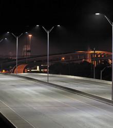 6.5. Как видно, новые светодиодные светильники (в данном случае Cree) прекрасно справляются со своей задачей: отличная равномерность и достаточная для безопасного движения яркость дорожного полотна
