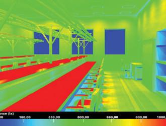 ЗАО «Связьстройдеталь», Москва, цех по производству работ со стекловолокном. Для местного освещения использованы светильники GALAD ДДУ71-20х1-001