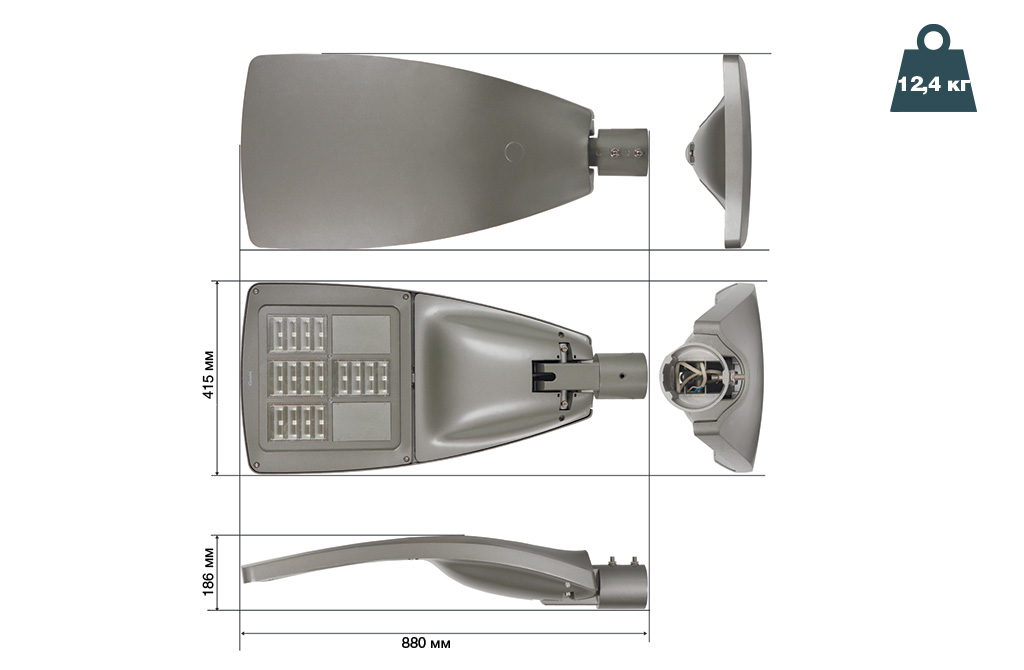 Чертежные виды светильника IGuzzini WOW Small BH36
