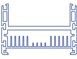Корпус-радиатор светодиодного светильника Радуга-060