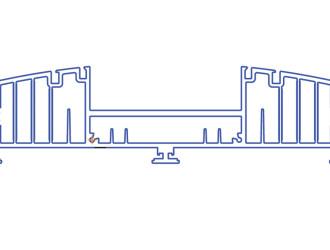 Корпус-радиатор светодиодного светильника Радуга-090
