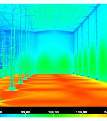 Завод «Кириешки» в Павловском Посаде, складское помещение. Использованы светильники GALAD ДСП02-120-001 с КСС косинусного типа