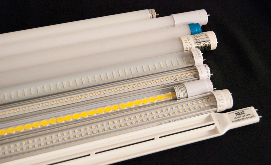 Светодиодные лампы ретрофиты, предназначенные для прямой замены люминесцентных трубок Т8, участвовавшие в обзоре