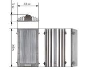 Чертежные виды светильника LE-ССП-22-160-0516-65Х «Кедр» ОТ «Лед Эффект»