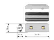 Чертежные виды светильника LP-2×2 Sklad ОТ КОМПАНИИ «Рубикон»