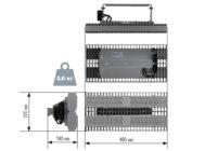 Чертежные виды светильника HB LED 152 D64 5000K ОТ КОМПАНИИ «СВЕТОВЫЕ ТЕХНОЛОГИИ»
