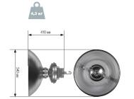 Чертежные виды светильника DLI-22-200-50-XXX ОТ КОМПАНИИ «ГК БСКА»
