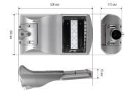 Чертежные виды светильника ДКУ02-16X4-001 ОТ КОМПАНИИ «СВЯЗЬИНВЕСТ»