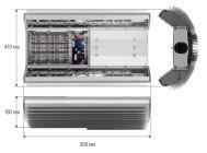 Чертежные виды светильника ГРАД LED 1-55-1/1.3-С ОТ КОМПАНИИ «ЧЕТЫРЕ СВЕТА».