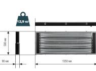 Чертежные размеры светильника STOCK ADV 454 IP54 ОТ КОМПАНИИ «СВЕТОВЫЕ ТЕХНОЛОГИИ».