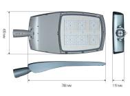 Чертежные виды светильника TECEO 2 5102 ОТ КОМПАНИИ «SCHREDER»