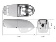 Чертежные виды светильника ЖКУ20-150-001 ОРИОН ХО  ОТ КОМПАНИИ «GALAD»