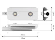 Чертежные виды светильника ALTAY-150-2Х75WATT ОТ КОМПАНИИ «РУБИКОН»