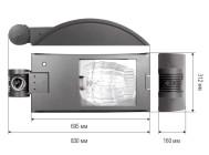 Чертежные виды светильника SBP 05214096 KYRO 2/250 ОТ КОМПАНИИ «SBP»