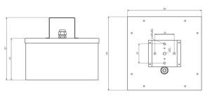 Чертежные виды СВЕТОВОГО УКАЗАТЕЛЯ ADAMAT (BS-1880-5×4 LED (-40C) BZ) ОТ КОМПАНИИ «БЕЛЫЙ СВЕТ 2000»