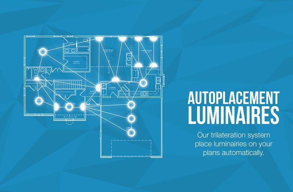 Автоматическое размещение светильников на плане — основа системы дистанционного управления освещением