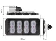 Чертежные виды cветодиодного уличного светильника Zeus Дку 09-120-001 от компании «ALB»