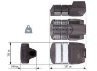 Чертежные виды светодиодного уличного светильника Уран-2А-76-10800 от компании «ЛайтСвет»