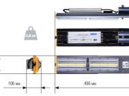 Чертежные виды светодиодного уличного светильника ДКУ 10-120-001 от компании «ALB»