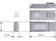 Чертежные виды светодиодного уличного светильника Уран-1С-56-7000 от компании «ЛайтСвет»