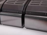 Оксидированные в тон черному пластику алюминиевые радиаторы светодиодного уличного светильника Уран-2А-76-10800 от компании «ЛайтСвет»