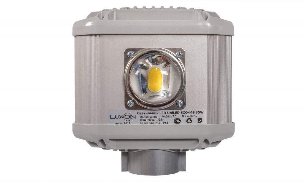 Вид со стороны оптической части LuxON LED UniLED ECO-MS 35W
