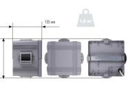 Чертежные виды светодиодного архитектурного светильника АСС-4х3-УЛ от компании «Иллюминекс».