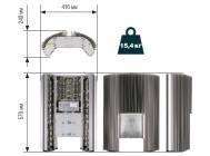 Чертежные виды светодиодного уличного светильника ГрадLED1-60-XPLV5-A/1.6-I от компании «Четыре Света»
