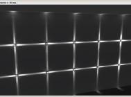 Визуализация распределения освещенности в программе DIALux светодиодного архитектурного светильника АСС-4х3-УЛ от компании «Иллюминекс».