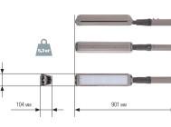 Чертежные виды светодиодного уличного светильника MAG3-105-148 от компании «ЛидерЛайт»