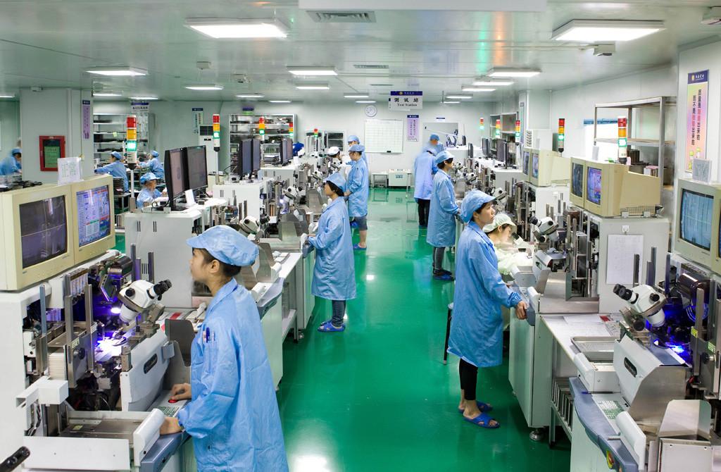 Фабрика в городе Шеньжень