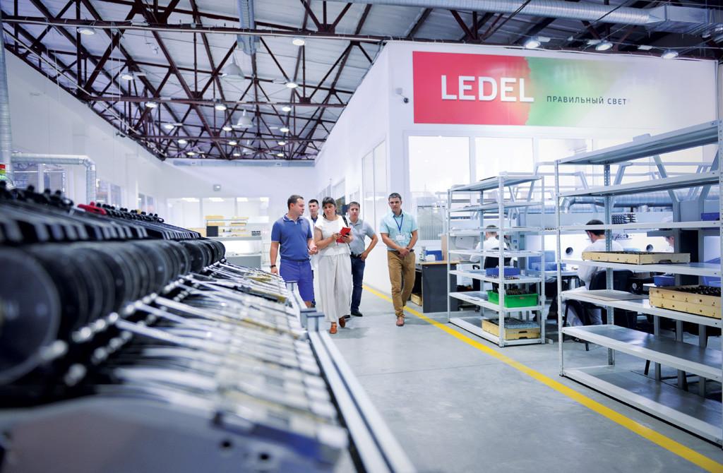Фоторепортаж с завода Ledel