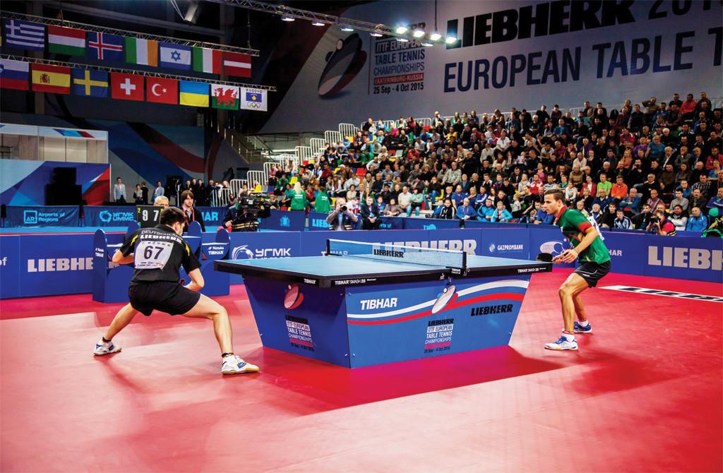 Проект освещения площадок Чемпионата Европы по настольному теннису