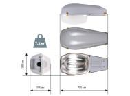 Чертежные виды светильника ЖКУ15-150-101Б