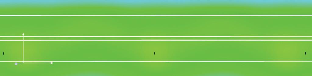 Визуализация распределения освещенности в условных цветах на поверхности дороги Б2, 2 полосы, монтаж 10 метров, одностор., разделит. полоса 0,1 м