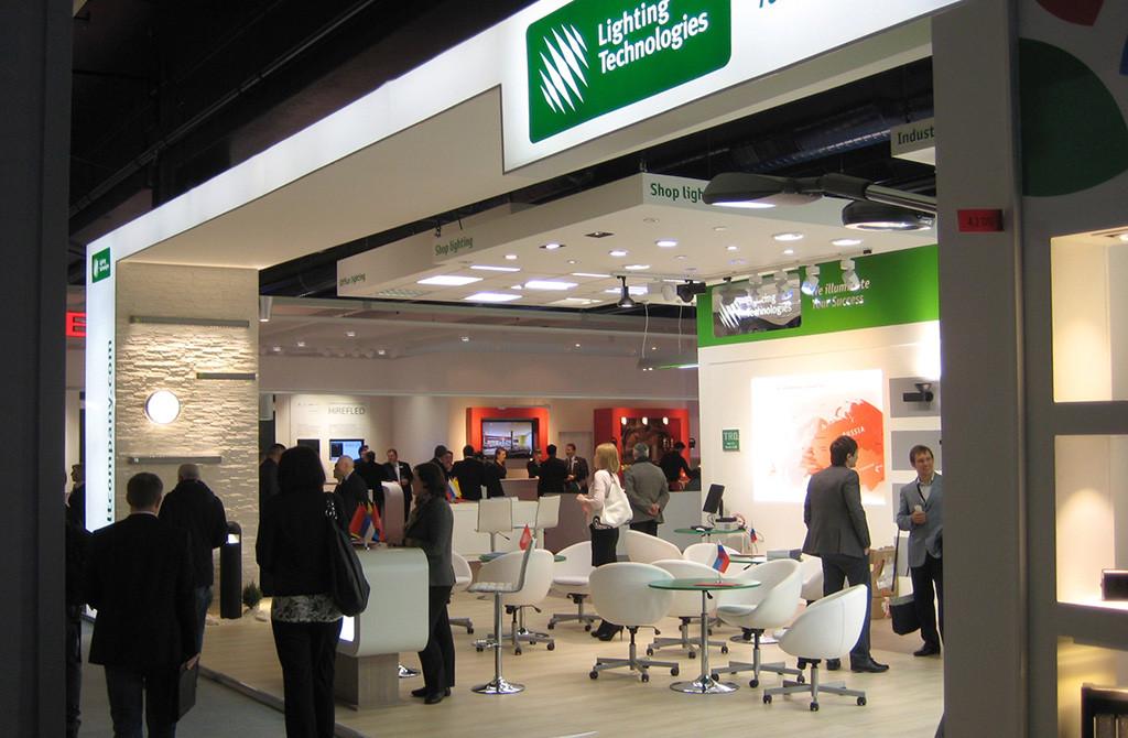 Россия на Light Building 2012. Стенд группы компаний «Световые технологии»