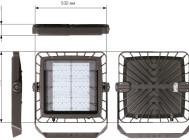 Чертежные виды светодиодный прожектора Omnistar 5120/144 LED от Schreder