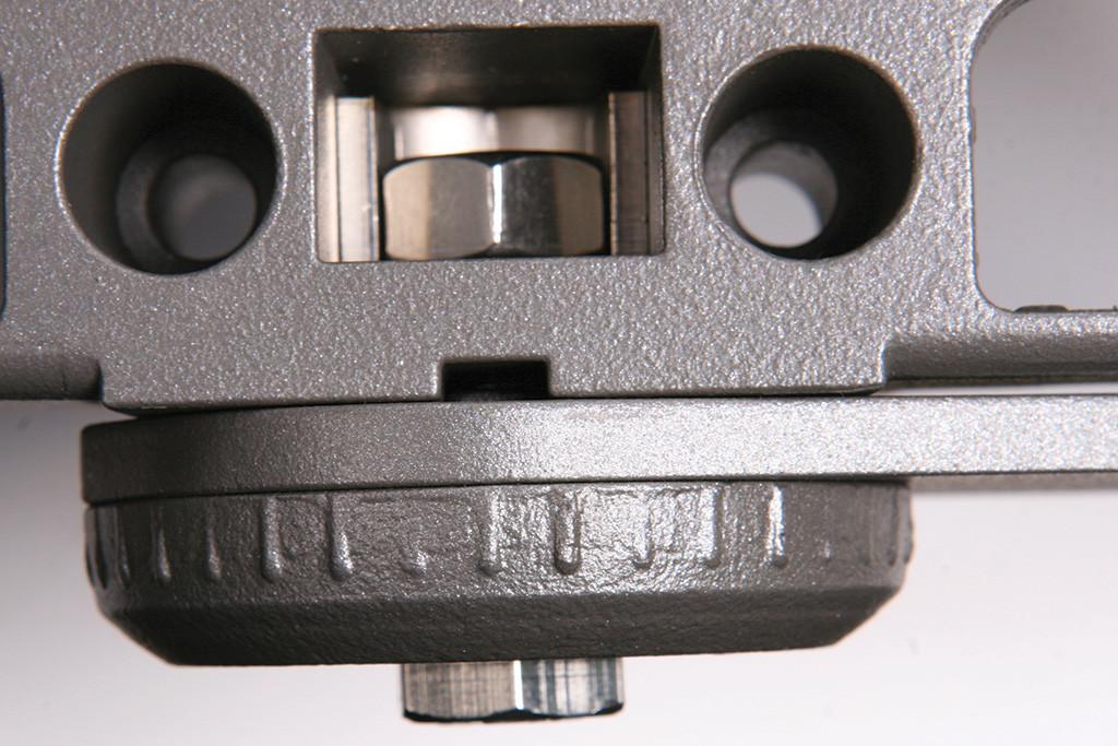 Механизм регулировки угла наклона светильника, вид сверху
