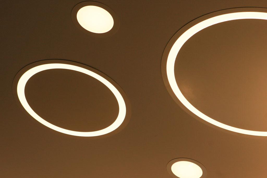 Кольцевые встраиваемые светодиодные светильники