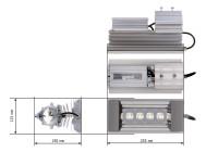 Чертежные виды светильника Quantum-60-1-M8