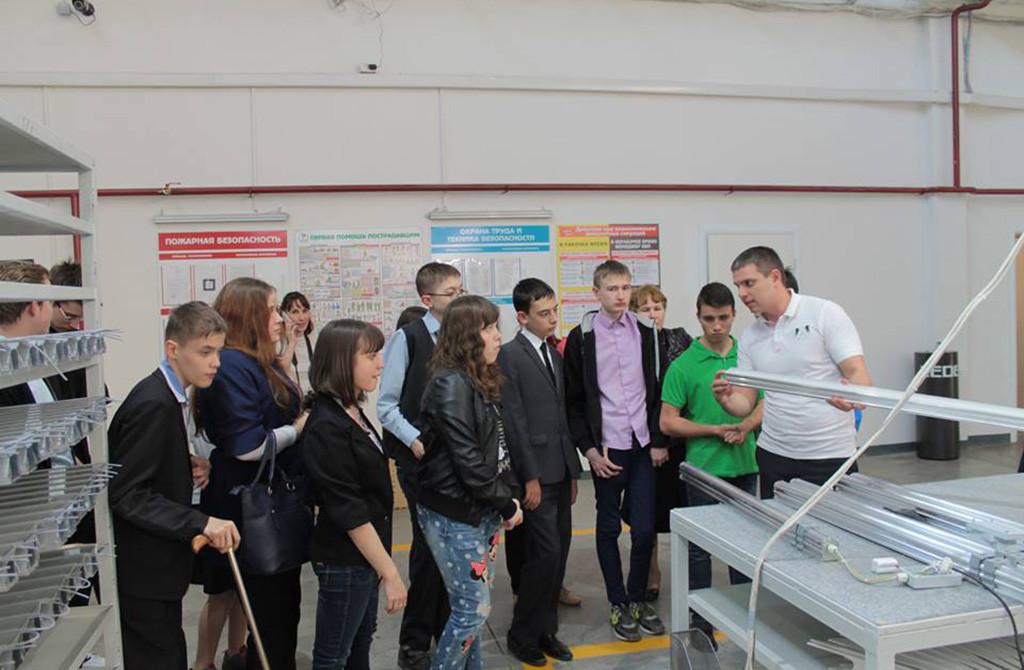 Экскурсия для воспитанников Казанской школы-интерната № 4 на производство компании Ledel