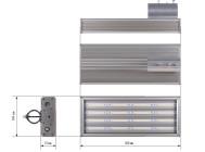 Чертежные виды уличного светильника PROM-120 от Аксиома Электрика