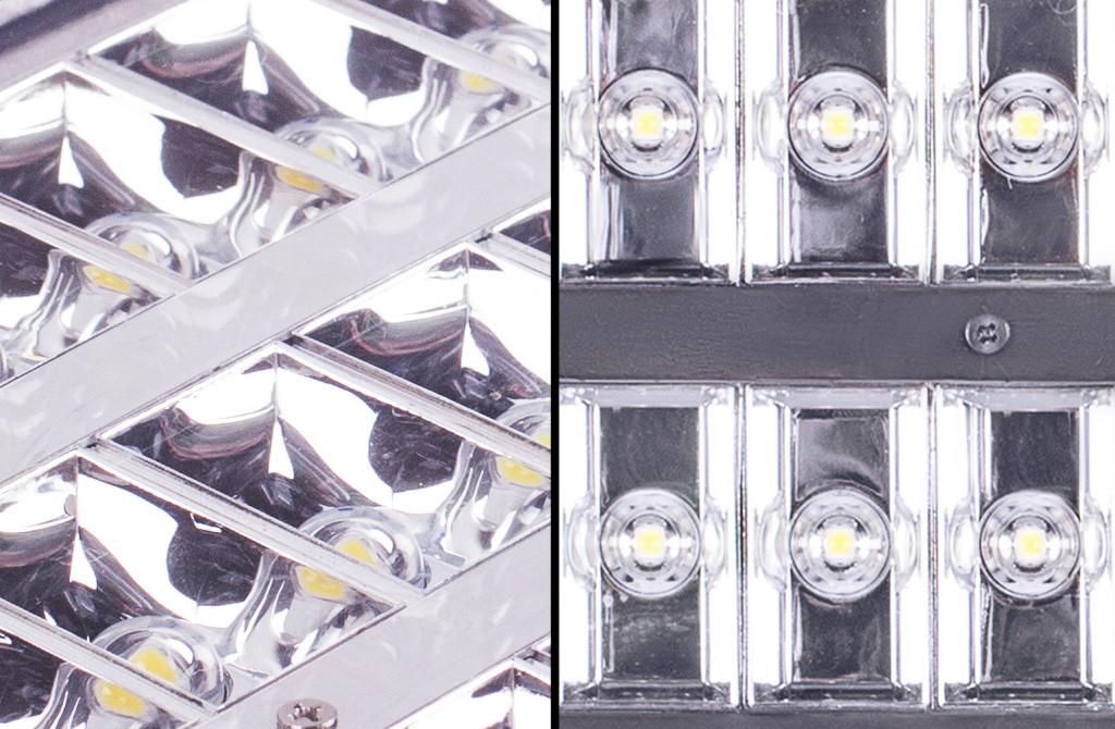 Фрагменты оптического модуля светильника NEOJ2018 30 Вт