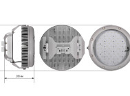 Чертежные виды GALAD Иллюминатор LED-160