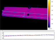 Термография боковой поверхности светильника