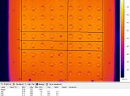 Термография печатной платы со светодиодами образца GALAD Победа LED-100-ШБ1/К50