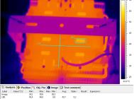 Термография корпуса светильника над блоками питания