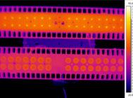 Термография печатной платы одной из двух секций светильника